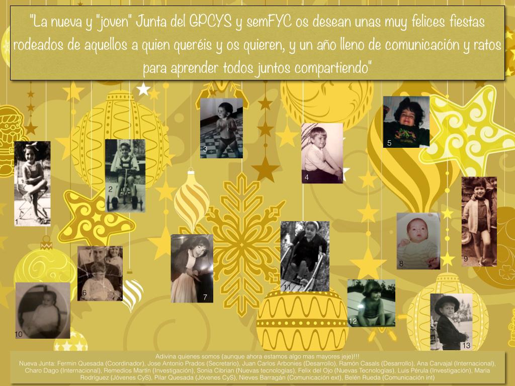 Felicitación de Navidad de la nueva junta del GPCYS